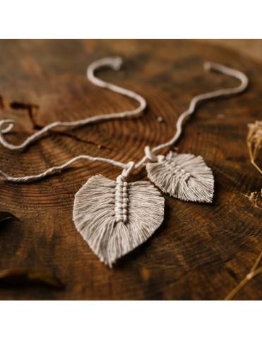 Bawełniany sznurek z listkami
