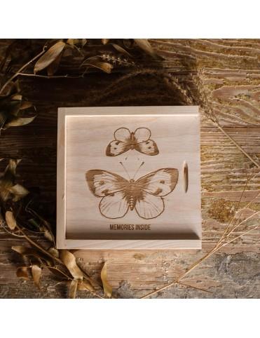 Pudełko na pendrive - motyle