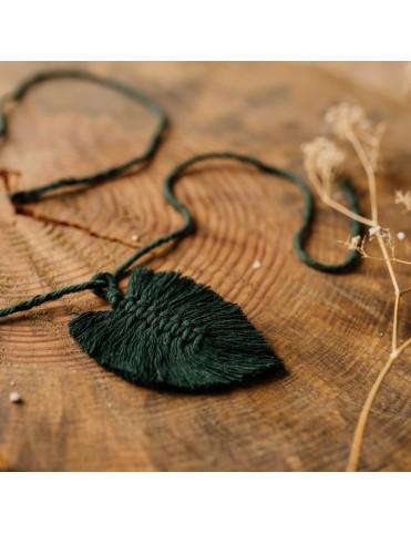 Bawełniany sznurek z listkiem